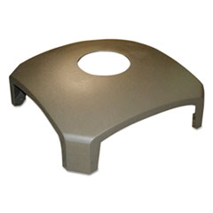 Rubbermaid® Commercial Landmark Series Replacement Part, Hood Top w/Hole, 26 x 26 x 10 1/4, Driftwood