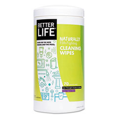 Better Life® Naturally Filth-Fighting All Purpose Wipes, Clary Sage & Citrus, 70/Canister BTR895454002553