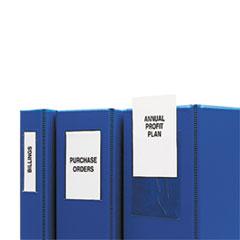 C-Line® Self-Adhesive Binder Label Holders Thumbnail