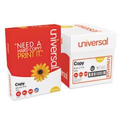 Universal® Copy Paper Convenience Carton, 92 Bright, 20lb, 8.5 x 11, White, 500 Sheets/Ream, 5 Reams/Carton