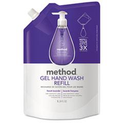 Method® Gel Hand Wash Refill, French Lavender, 34 oz Pouch, 6/Carton