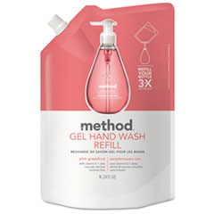 Method® Gel Hand Wash Refill, Pink Grapefruit, 34 oz Pouch