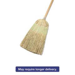 "Boardwalk® Parlor Broom, Yucca/Corn Fiber Bristles, 42"" Wood Handle, Natural, 12/Carton BWK926YCT"