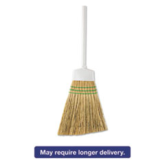"Butler® Corn Angle Broom, 12"" Bristles, 54"", Metal Hande, White BUT411212"