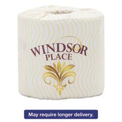 Atlas Paper Mills Windsor Place Premium Bathroom Tissue, 2-Ply, 4 1/2 x 3, 400/Roll, 96 Roll/Crtn APM374WINDSOR