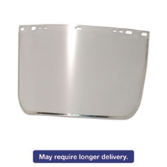 """Anchor Brand® Face Shield Visor, 15 1/2"""" x 9"""", Clear, Bound, Plastic/Aluminum ANR3440BCL"""