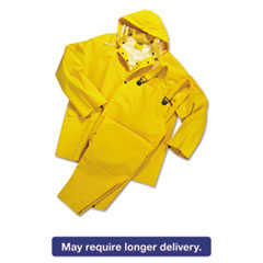 Anchor Brand® Rainsuit, PVC/Polyester, Yellow, Medium ANR9000M