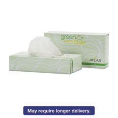 Atlas Paper Mills Green Heritage Facial Tissue, 2-Ply, White, 7 4/5 x 8, 100/Box, 72 Box/Carton APM072A