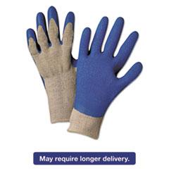 Anchor Brand® Latex Coated Gloves 6030, Gray/Blue, Medium ANR6030M