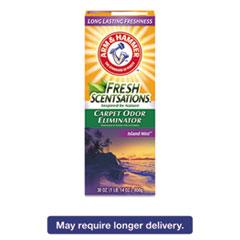 Arm & Hammer® Fresh Scentsations Carpet Odor Eliminator, Island Mist, 30 oz Box, 6/Carton CDC3320011535