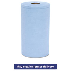 Hospital Specialty Co. Prism Scrim Reinforced Wipers, 4-Ply, 9 3/4 x 275ft Roll, Blue, 6 Rolls/Carto HOSC2375BH