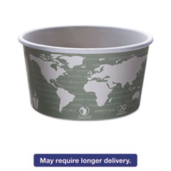 Eco-Products® World Art Renewable & Compostable Food Container - 12oz., 25/PK, 20 PK/CT ECOEPBSC12WA