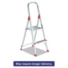 Louisville® #566 Folding Aluminum Euro Platform Ladder, 2-Step, Red DADL234602