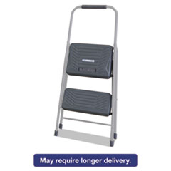 Louisville® Black and Decker Steel Step Stool, Two-Step, 200 lb Cap, Gray DADBXL436002