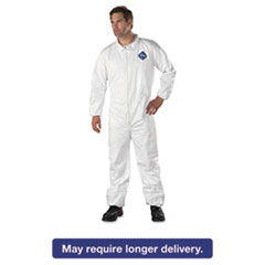 DuPont® Tyvek Elastic-Cuff Coveralls, HD Polyethylene, White, 3X-Large, 25/Carton DUPTY125S3XL