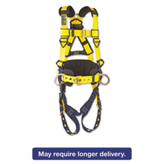 DBI-SALA® Full-Body Harness, Tongue Buckles, Side/Back D-Rings, X-Large, 420lb Capacity DBS1101656