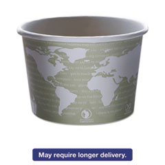 Eco-Products® World Art Renewable & Compostable Food Container - 16oz., 25/PK, 20 PK/CT ECOEPBSC16WA