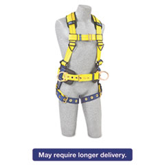 DBI-SALA® Full-Body Harness, Tongue Buckles, Side/Back D-Rings, Large, 420lb Capacity DBS1101655