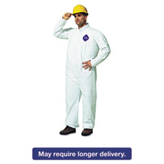DuPont® Tyvek Coveralls, Open Wrist/Ankle, HD Polyethylene, White, Large, 25/Carton DUPTY120SL