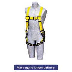 DBI-SALA® Full-Body Harness, Tongue Buckles, Back D-Ring, Universal, 420lb Capacity DBS1102000