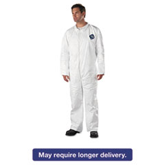 DuPont® Tyvek Coveralls, Open Wrist/Ankle, HD Polyethylene, White, X-Large, 25/Carton DUPTY120SXL