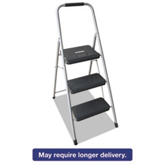 Louisville® Black and Decker Steel Step Stool, Three-Step, 200 lb Cap, Gray DADBXL436003