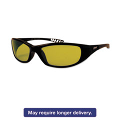 Jackson* Safety Brand V40 HellRaiser Safety Glasses, Black Frame, Amber Lens JAK20541