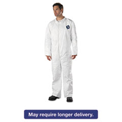 DuPont® Tyvek Coveralls, Open Wrist/Ankle, HD Polyethylene, White, 2X-Large, 25/Carton DUPTY120S2XL