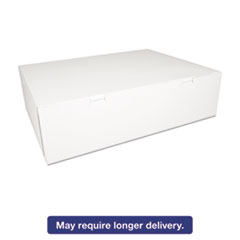SCT® Bakery Boxes, White, Paperboard, 18 1/2 x 14 1/2 x 5, 50/Carton SCH1013