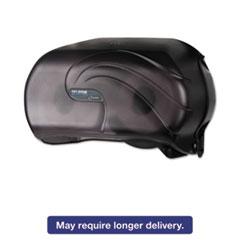 San Jamar® VersaTwin Standard Tissue Dispenser, 2 Roll, 12-1/4 x 5-3/4 x 8-1/4, Black Pearl SJMR3690TBK