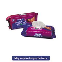 Royal Baby Wipes Refill Pack, Scented, White, 80/Pack, 12 Packs/Carton RPPRPBWSR80