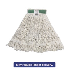 Rubbermaid® Commercial Super Stitch Rayon Mop Heads, White, Medium, 6/Carton RCPD412