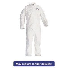KleenGuard* A20 Breathable Particle Protection Coveralls, 3X-Large, White, 20/Carton KCC49006