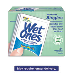 Wet Ones® Hand Wipes for Sensitive Skin, 4 25/32 x 2 27/32, Fragrance-Free, 24/BX, 10BX/CT PLX0472101