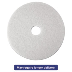 3M Low-Speed Super Polishing Floor Pads 4100, 21-Inch, White, 5/Carton MMM08485