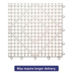 San Jamar® Versa-Mat Bar-Shelf Liner, Plastic, 12w x 12d x 1/4h, Clear, 24/Carton SJMVM5280CL