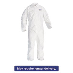 KleenGuard* A20 Breathable Particle Protection Coveralls, 4X-Large, White, 20/Carton KCC49007
