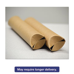 "General Supply Snap-End Mailing Tubes, 24l x 1 1/2"" dia., Brown Kraft, 25/Pack UFSSSTK124"