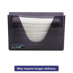 San Jamar® Countertop Folded Towel Dispenser, Plastic, Black Pearl, 11 x 4 3/8 x 7 SJMT1720TBK