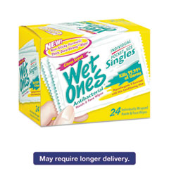 Wet Ones® Antibacterial Moist Towelettes, Citrus, 3 3/5 x 7 1/2, White, 24/BX, 10 BX/CT PLX04730R0