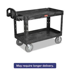 Rubbermaid® Commercial Heavy-Duty Utility Cart, Two-Shelf, 26w x 55d x 33 1/4h, Beige RCP4546BEI