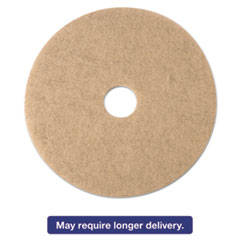 3M Ultra High-Speed Natural Blend Floor Burnishing Pads 3500, 21in, Tan, 5/CT MMM19009