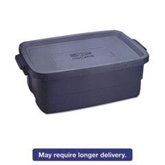 Rubbermaid® Roughneck Storage Box, 10 gal, Dark Indigo Metallic, 8/Carton RCP2214TPDIMCT
