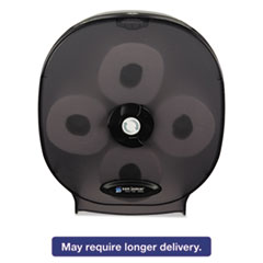 San Jamar® 4-Station Carousel Tissue Dispenser, 4Roll,14 7/8x6 1/8x13 1/8, Black Pearl SJMR3800TBK