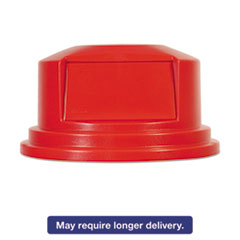 """Rubbermaid® Commercial Round Brute Dome Top Lid for 55gal Waste Containers, 27 1/4"""" dia, Red RCP265788RED"""