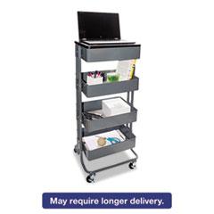 Vertiflex™ Multi-Use Storage Cart/Stand-Up Workstation, 17w x 14 3/8d x 18 1/2 - 39d, Gray VRTVF51025