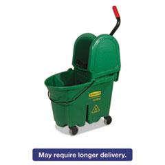 Rubbermaid® Commercial WaveBrake Bucket/Wringer Combos, 35 qt, Green RCP757888GRE
