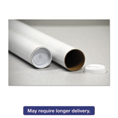 """General Supply Round Mailing Tubes, 20l x 2"""" dia., White, 25/Pack UFSRRTW220"""