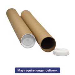 "General Supply Round Mailing Tubes, 15l x 3"" dia., White, 25/Pack UFSRRTW315"