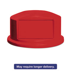 Rubbermaid® Commercial Round Brute Dome Top w/Push Door, 24 13/16 x 12 5/8, Red RCP264788RED